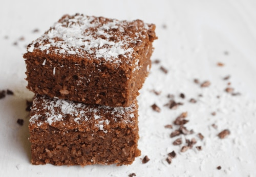 Two Coconut Brownies