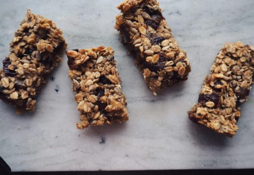 Sugar free Date and Banana Flapjacks