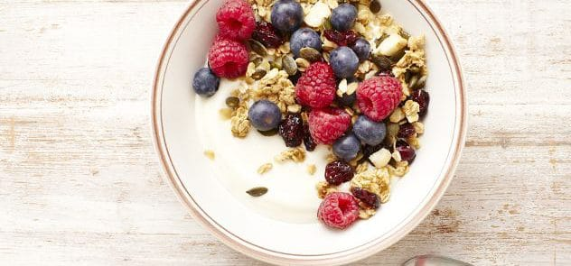 Cranberry and macadamia granola