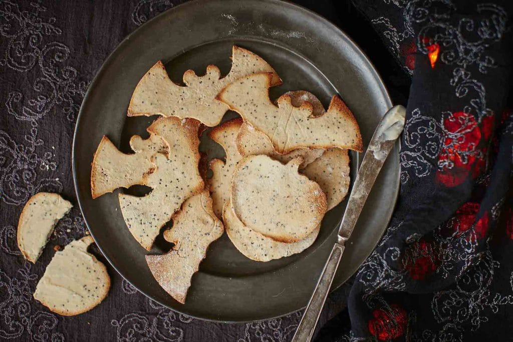 Gluten-free Halloween coconut crackers