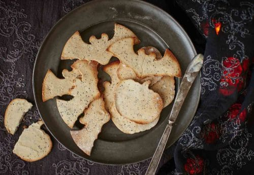 Halloween style coconut crackers