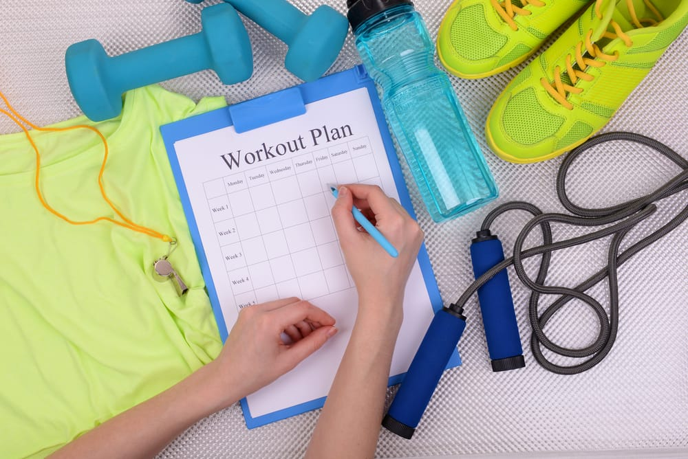 How to create your weekly exercise plan