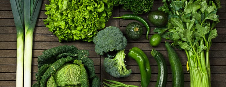 Selection of green vegetables