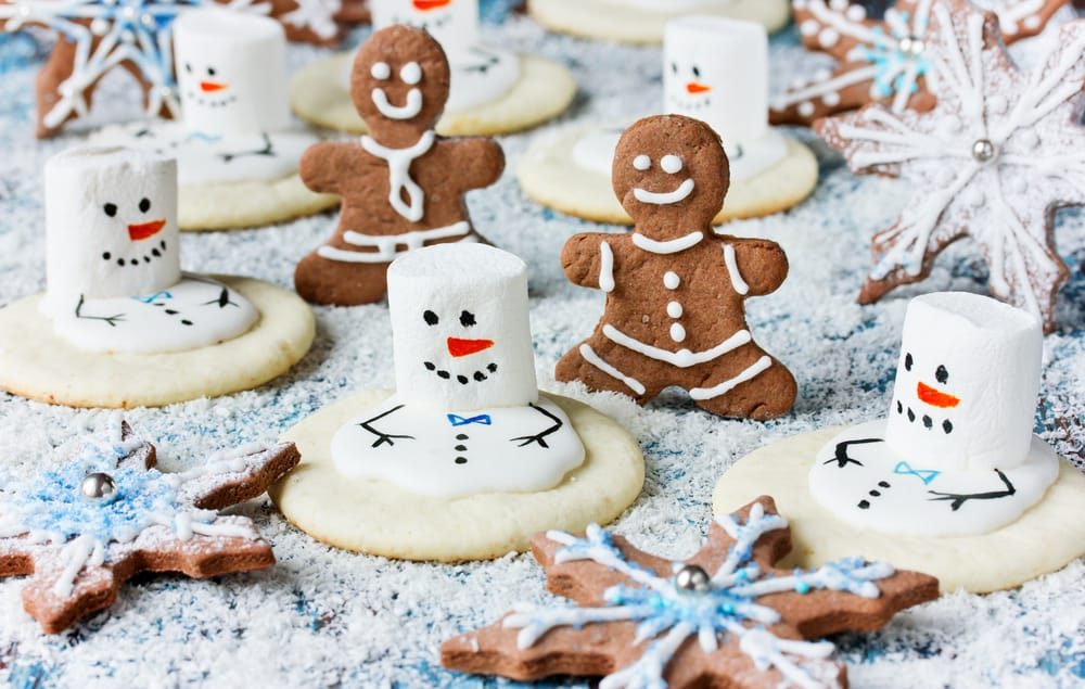 Four fun Christmas biscuits