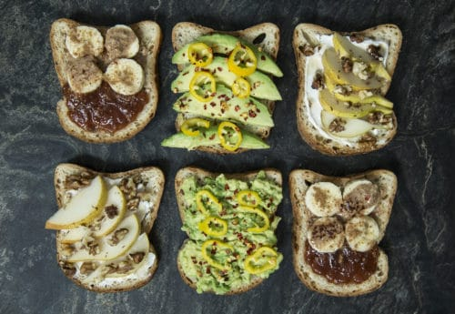 3 Easy gluten-free open sandwiches