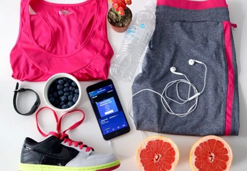 Gym accessories and clothing