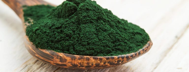 spirulina on a spoon