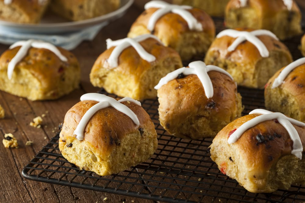 Traditional and free-from hot cross buns