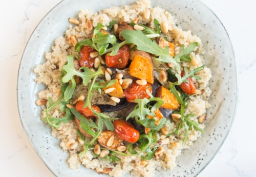 Deliciously Ella quinoa roasted vegetable salad