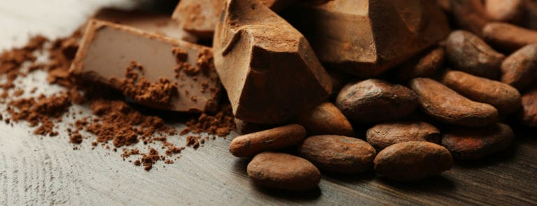 Aromatic cocoa and chocolate