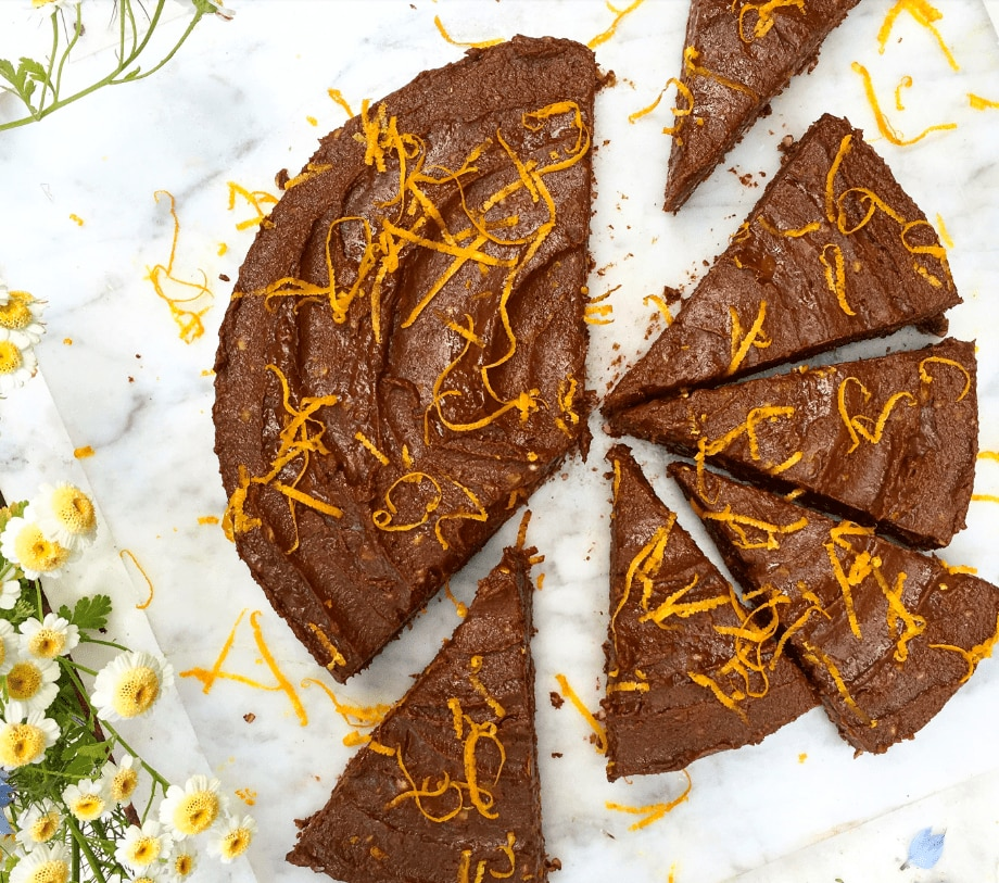 Deliciously Ella chocolate orange tart