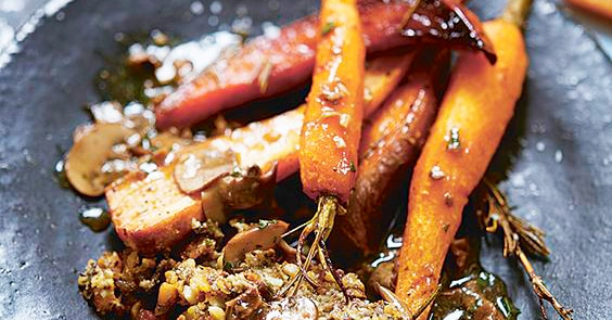 Deliciously Ella Maple Roasted Carrots
