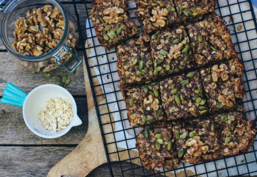 banana, date and walnut flapjacks