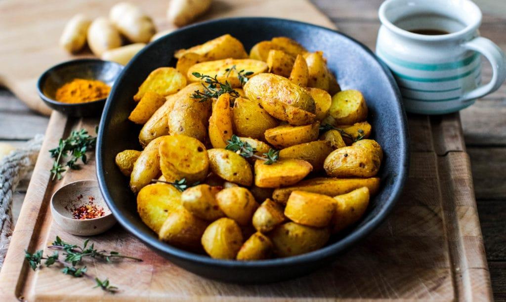 Rebel Recipes roast turmeric potatoes