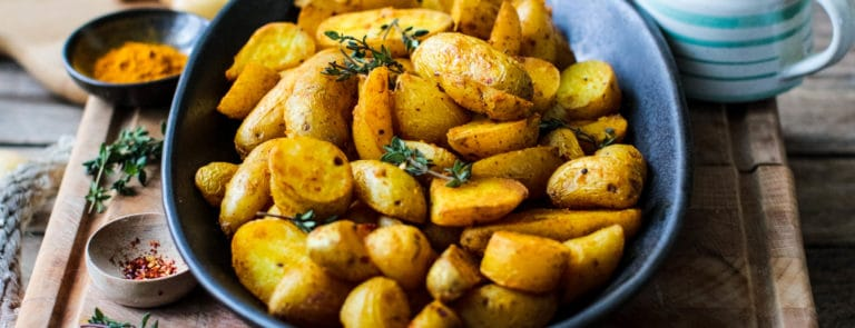 Rebel recipes roast turmeric potatos