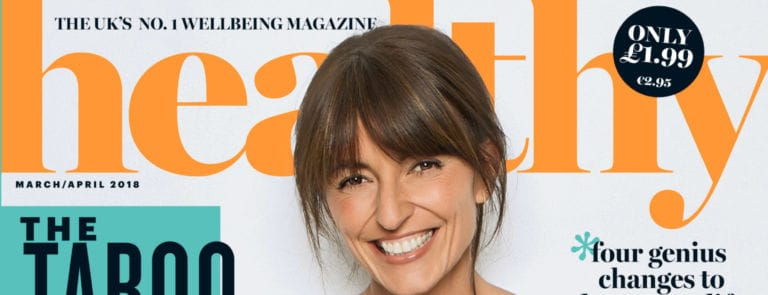 Front cover of healthy issue 140 with Davina McCall