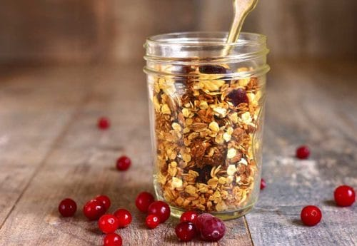 Ginger-spiced breakfast granola