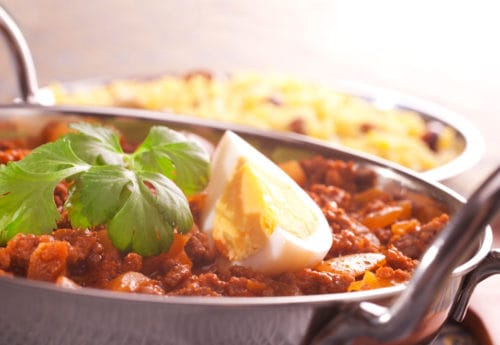 A skin-friendly sweet potato and egg curry