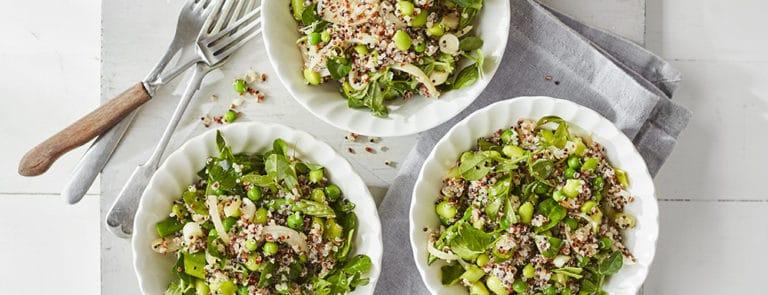 Lazy Weekend Recipes: Warm Green Vegetable Quinoa Salad