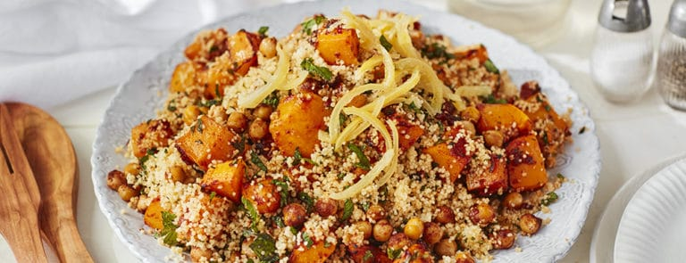 Lazy Weekend Recipes: Butternut Squash Moroccan Salad with Couscous and Chickpeas