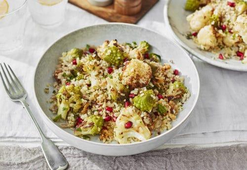Lazy Weekend Recipes: Cauliflower, Pearl Barley and Bulgur Wheat Salad