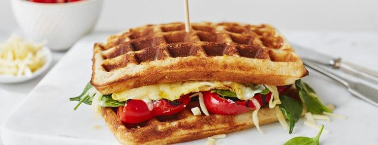 Wheat-Free Parmesan Buckwheat Breakfast Waffles