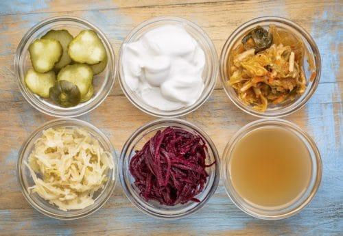 Bowls of various food ingredients
