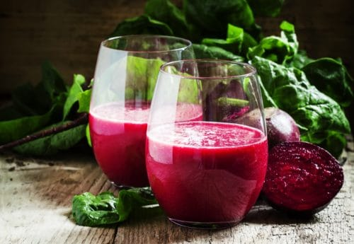 Beetroot & spinach smoothie