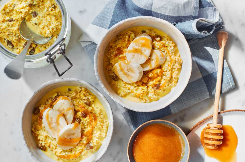 Turmeric, Manuka Honey & Ginger Overnight Oats