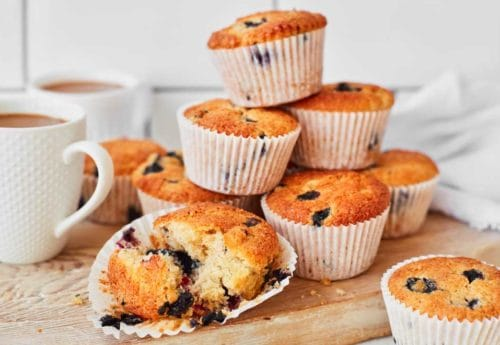 Gluten-free blueberry and banana muffins