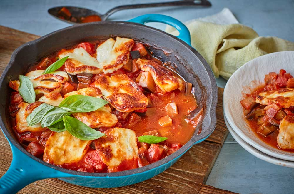 One Pot Dishes: Mediterranean and Halloumi Bake