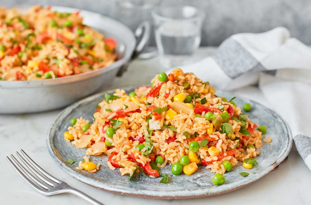 One Pot Dishes: Portuguese Peri Peri Rice with Slow Roasted Peppers