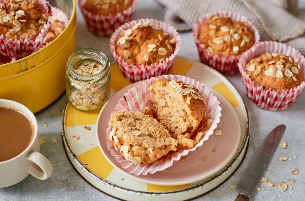 Vegan Peanut Butter & Banana Oat Muffins