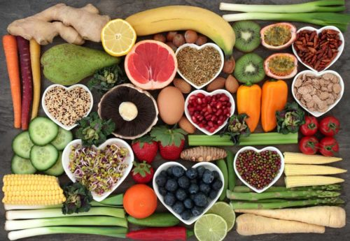 a selection of fruits, vegetables, seeds and grains packed with essential minerals
