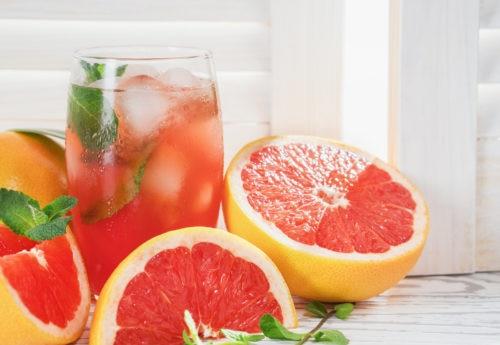 healthy fresh grapefruit juice