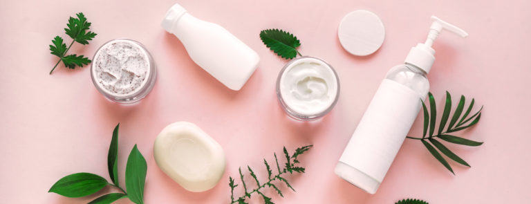 a selection of vegan skincare