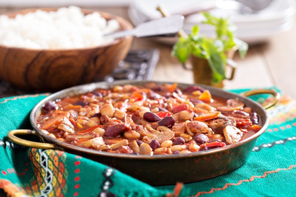 Low cholesterol diet recipes: Vegan 3 Bean Chilli