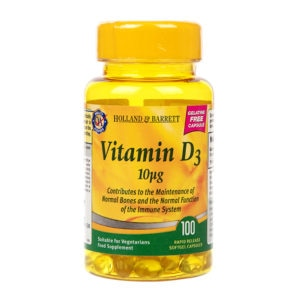 Holland & Barrett Vegetarian Vitamin D3 100 Capsules 400 I.U