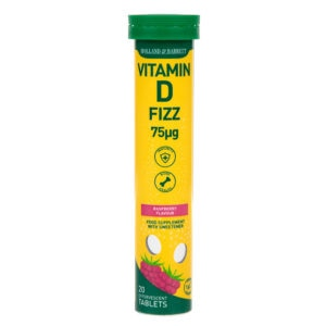 Holland & Barrett Vitamin D3 75ug Raspberry Flavour Effervescent 20 Tablets